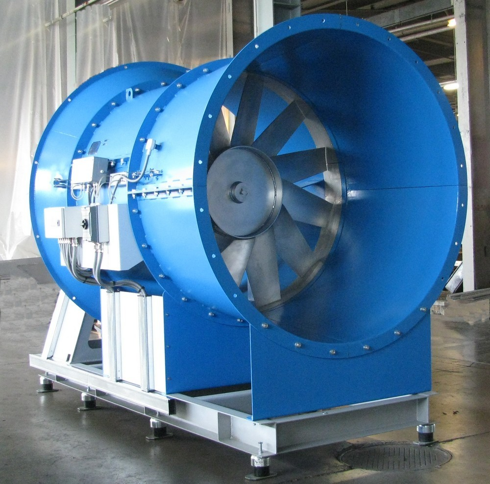 AXIPAL fan of FTD type for main and local ventilation for mine venting